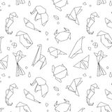 Animals origami pattern lines Stock Photo