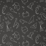 Animals origami pattern Royalty Free Stock Photography