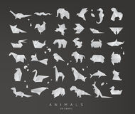 Animals origami set Stock Image