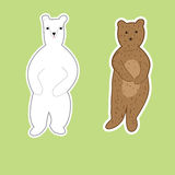 Animals painted Doodle stickers Stock Photo