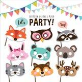 Animals party masks Stock Photos