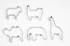Animals in Pastry Cutters. With White Background Royalty Free Stock Images