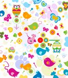 Animals pattern. Animals seamless pattern, design for kids Royalty Free Stock Image