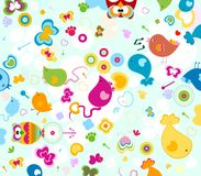 Animals pattern. Animals seamless pattern, design for kids Royalty Free Stock Photo