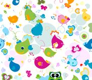 Animals pattern. Animals seamless pattern, design for kids Royalty Free Stock Images