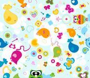 Animals pattern. Animals seamless pattern, design for kids Royalty Free Stock Photography