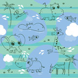 Animals pattern Stock Image