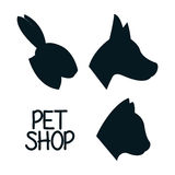 Animals pet shop graphic Royalty Free Stock Images