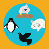 Animals on the planet, animal shelter. World animal`s day. vector illustration