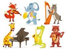 Animals playing intruments. Illustration Stock Image