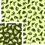 Animals - reptiles. Vector seamless pattern - 2 colors Stock Image