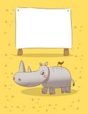 Animals rhino Royalty Free Stock Image
