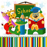 Animals in school Royalty Free Stock Photography