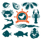 Animals on seafood Royalty Free Stock Photos