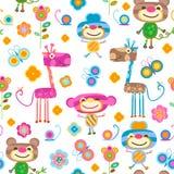Animals seamless background Royalty Free Stock Photo