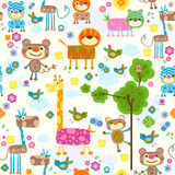 Animals seamless background Stock Images