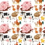 Animals on seamless background royalty free illustration