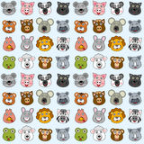 Animals Seamless Pattern [2]. A funny seamless background with cartoon animal faces, useful also as design element for texture, pattern or giftwrap. Eps file Stock Images