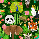 Animals Seamless Pattern Royalty Free Stock Photography