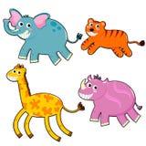 Animals set. Set of funny cartoon animals Royalty Free Stock Image