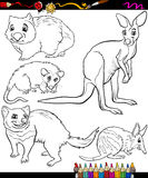 Animals set cartoon coloring book Royalty Free Stock Photos