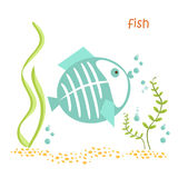 Animals set - fish. Fish isolated. Drawing fish for a child Royalty Free Stock Photos