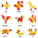 The animals set of geometric figures Stock Images