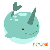 Animals set - narwhal Stock Images