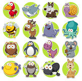 Animals set. Vector illustration of Animals set Cartoon Stock Photography
