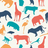 Animals silhouette seamless pattern. Stock Photography