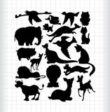 Animals silhouettes. Many animals silhouettes ,vector illustration Royalty Free Stock Photo