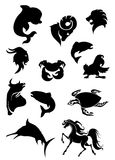 Animals silhouettes Stock Image