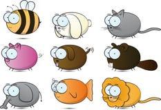 Animals. Some random animals drawn stock illustration