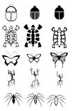 Set of Animal tattoos isolated in black Royalty Free Stock Photo