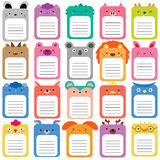 Animals text box set. 20 animals text box, text frames set Royalty Free Stock Images
