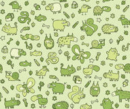 Animals Texture seamless pattern for kids Stock Photo
