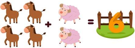 Animals to learn mathematics Stock Photos