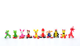 Animals toy from wood isolated on white background Royalty Free Stock Photo