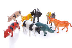 Animals toys isolated Royalty Free Stock Images
