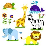 Animals. Vector illustration of cute animal set including Royalty Free Stock Image