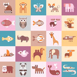 Animals vector illustration Royalty Free Stock Photography