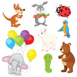 Animals Vector Illustration Set Royalty Free Stock Photography