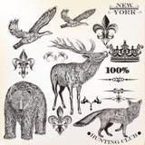 Animals vector set Royalty Free Stock Photos