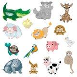 Animals vector set. Isolated on white background Stock Image