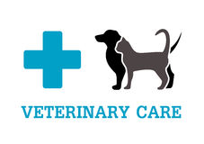 Animals on vet symbol Stock Photography