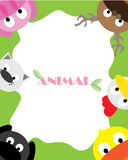 Animals wallpaper. Animals Cartoon Illustration Vector Wallpaper Stock Photography