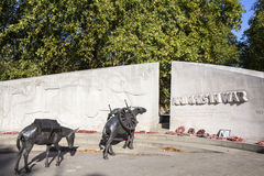 Animals in War Memorial in London Stock Photography