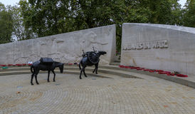 Animals in War memorial Royalty Free Stock Images