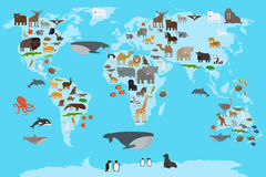 Animals world map Stock Image
