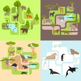 Animals of the world. A protected area, a hunting ground, a territory of the zoo Royalty Free Stock Image